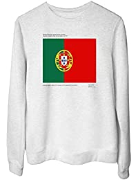 Sweatshirt Ras du Cou por Femme Blanc TM0226 Portugal Flag 9bbac2771fa