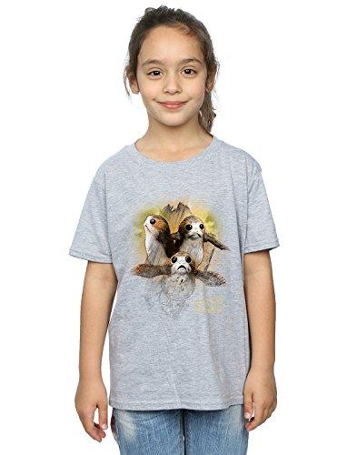 he Last Jedi Porgs Brushed T-Shirt 9-11 years Sport Grey (Star Wars Jedi Mädchen)