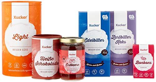 Xucker Probierset - zuckerarme und zuckerfreie Leckereien mit Xylit und Erythrit - Geschenk-Set