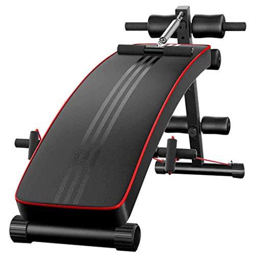 Einstellbare Hantelbänke Sit Up Bench Bauchbank Crunch Board Multifunktions-Übung Fitness Workout Haushalt Indoor Männer und Frauen Fitnessgeräte Bauch