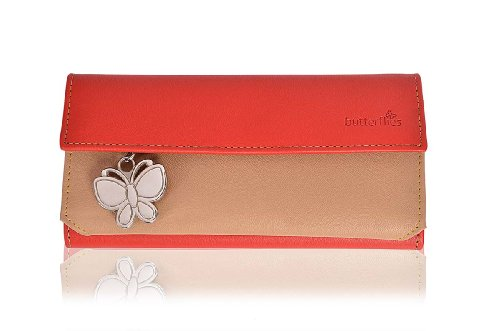 butterflies women's wallet (red / beige) (bns 2037) Butterflies Women's Wallet (Red / Beige) (BNS 2037) 41Hfij4g 9L