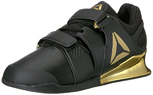 Reebok Men\'s Legacy Lifter Cross-Trainer Shoe, Black/Gold, 11.5 M US