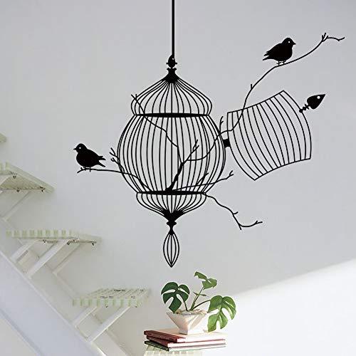 SMZYKW Wandaufkleber Vögel Käfig AST Dekorative Wandaufkleber Moderne Vinyl Home Wandtattoos Für Wohnzimmer Büro Zimmer Wandaufkleber