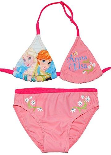 """Bikini / Triangel Bikini - """" Disney FROZEN - die Eiskönigin """" - Größe 5 bis 6 Jahre - Gr. 122 bis 128 - für Mädchen Kinder - rosa / Zweiteiler - zweiteilig - völlig unverfroren Prinzessin Elsa Anna Arendelle - Olaf - Badeanzug - Triangelbikini"""