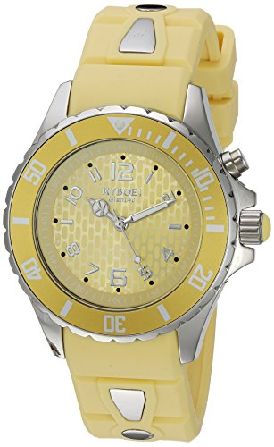 KYBOE! 'Power' Quartz Stainless Steel and Silicone Casual Watch, Color:Yellow (Model: KY.40-038.15)