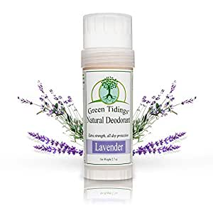 Green Tidings All Natural Deodorant *Extra Strength, All Day Protection* 2.7oz Lavender