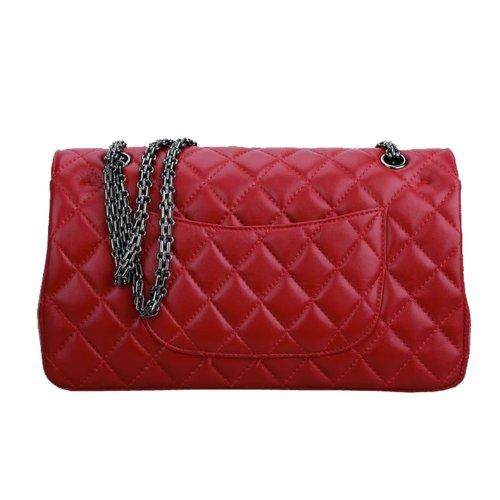 E-Girl Q0225 donna Borse a spalla,Borse a tracolla32x19x8 cm (B x H x T) Red
