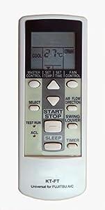 Mando a distancia para todos los aires acondicionados, climatizadores Fujitsu General Split (unidad interna y compresor externa).Modelo específico para Fujitsu y marcas de la misma marca como General y Dymanic, no es universal, no funciona en otras m...