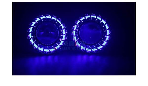 KBRD 2Pcs Car 2 5 Mini Lens LED Angel Eyes Headlights