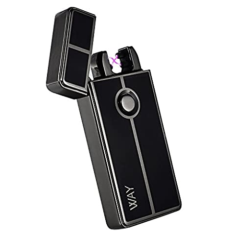 Electric Lighter, VVAY Double Arc Lighter Usb Rechargeable, Usb Lighter (Black)
