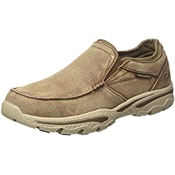 Skechers Creston-Moseco, Mocasines para Hombre, Marrón (Light Brown), 41 EU