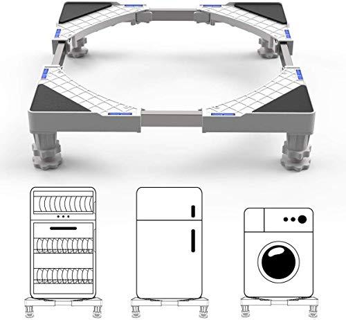 DEWEL Einstellbare Waschmaschinen-Untergestell Sockel(Einstellbare Größe:Länge&Breite 43 cm-67 cm, Höhe 10 cm -13 cm)für Trockner, Gefrierschrank oder Kühlschränke
