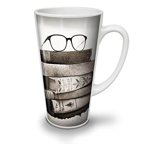 Wellcoda Alt Sammlung Bücher Latte BecherRetro Kaffeetasse - Komfortabler Griff, Zweiseitiger Druck, robuste Keramik