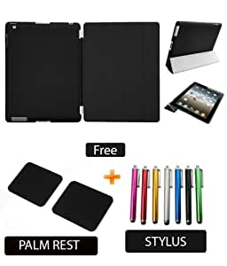 Generic Ipad 2 3 4 Smart Cover Black With Black Case Bags   Cases