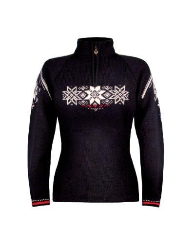 Dale of Norway - Pullover da donna Holmenkollen, colore navy/lampone/bianco sporco, taglia XL, 91551-C