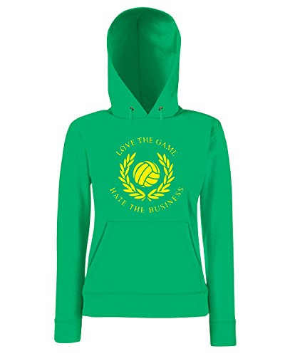 T-Shirtshock - Sweatshirt a capuche Femme TUM0126 love the game hate the business Vert