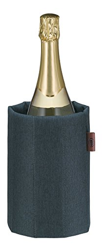 Alfi Premium Coat grau braun Flaschenkühler, Stoff, 14,7 x 14,7 x 21,5 cm