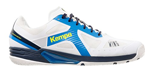 Kempa Wing Lite, Chaussures de Handball Homme Blanc (Blanc/Bleu Ciel/Bleu Marine Blanc/Bleu Ciel/Bleu Marine)
