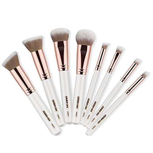 8pcs maquillage pinceaux poudre base fard à paupières fard à paupières pinceau cosmétique lèvre(A)