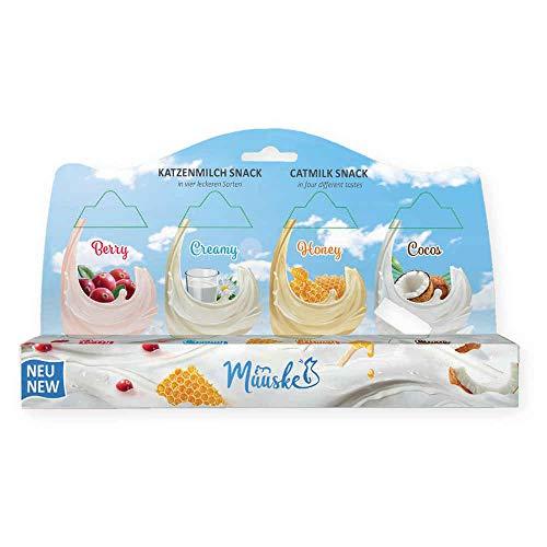 Muuske Snacks aus natürlichem Milch und ohne Lactose für Katzen, 2 x 4 Stück