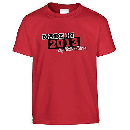 6. Geburtstag Kinder T-Shirt Made In 2013 Limited Edition Red 36