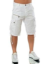 M128 Hommes Pantalons Bermudas Décontracté