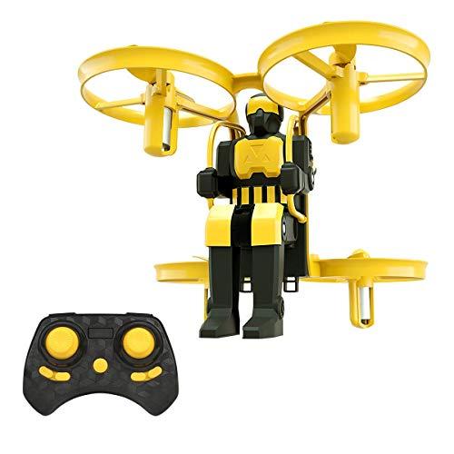 Mini Nano Drone Jetpack, RC Mini Drones für Anfänger, Kinder, Kinder, Taschenspielplatz mit 2,4 GHz Fernbedienung, 6 Axis 3D Flips für Indoor und Outdoor Flying,Yellow