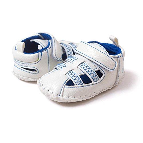 Hunpta Babyschuhe Mädchen Jungen Lauflernschuhe Baby Kleinkind weiche Sohle Leder Schuhe Baby Boy Girl Schuhe (11, Blau) Blau