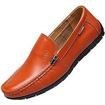 ESAILQ -Zapatos Nauticos Barco Marrones para Hombres - Mocasines Cómodos Hombre, Adecuado para El