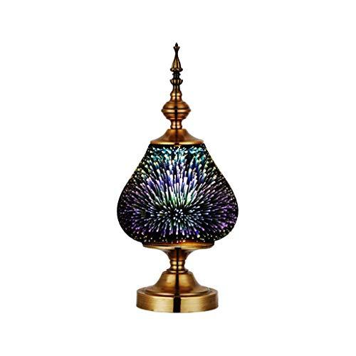 XAJGW Fashion 3D Crystal Light Fireworks Light, Led Art Table Lamp, Modern Minimalist Study Living Room Bedroom Table Lamp,Home Decoration,Mood Light/Led Night Light for Bedroom,Living Room