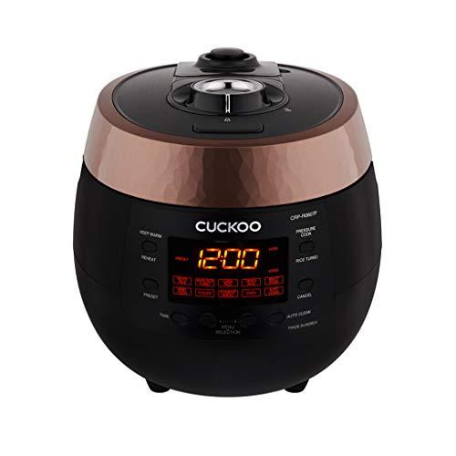 CUCKOO CRP-R0607F Dampfdruck Reiskocher (HP), Schnellkochtopf und Schongarer aus Edelstahl mit programmierbaren