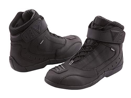 Modeka Stivali da moto,in pelle, di colore nero