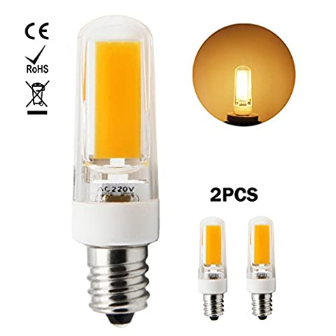 1819®E12 LED Lampe, 3W LED Birnen, Ersatz für 30W Halogen Lampen, globaler 360° Abstrahlwinkel Warm Weiß 3000 K AC220-240V 250lm CRI >80, 2 Pack
