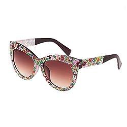 Ted Smith Cat-Eye Sunglasses (TS F2136 FLORL BRN)