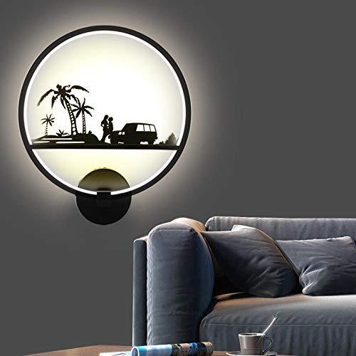 Hawaii Illusion (3D Nachtlicht Ganglampe Schlafzimmerlampe Nachttischlampe Kreative Persönlichkeit Wohnzimmer Korridor Treppe Dekoration Wandlampe @ Hawaii)