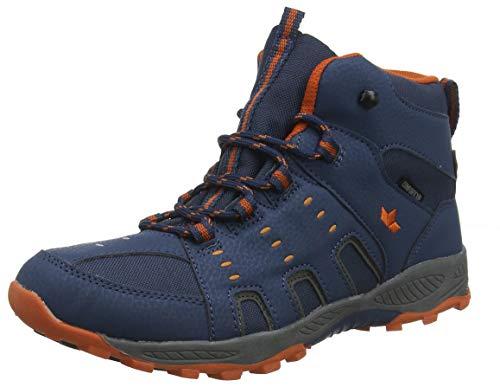 Lico Unisex-Kinder Apachi High Trekking- & Wanderstiefel, Blau Marine/Orange, 31 EU