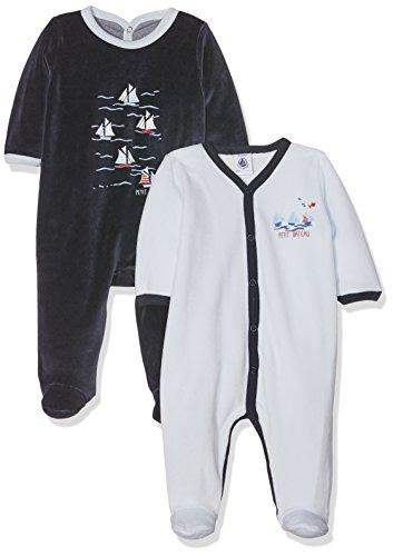 Petit Bateau Baby-Jungen Schlafstrampler Lot 2P Dors Bien, Mehrfarbig (Special Lot 98), 86 Preisvergleich