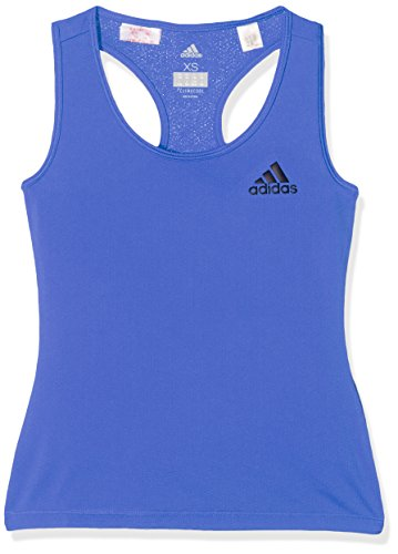 adidas Mädchen Training Tank top Tanktop, Hi-Res Blue/Black, 164