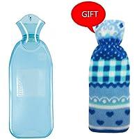 KOMEISHO 500 ml 1000 ml 2 größen verfügbar Lange Stil PVC-wärmflasche warmwasserbeutel für Schmerzen kalt mit... preisvergleich bei billige-tabletten.eu