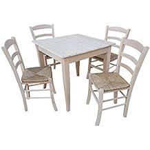 Amazon.it: tavolo legno grezzo - OKAFFAREFATTO MADDALONI