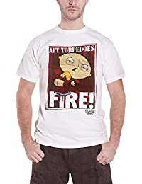 Family Guy T Shirt Stewie AFT Torpedoes Fire Official Mens White