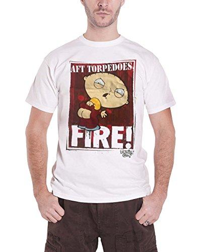 Family Guy offiziell T Shirt Stewie AFT Torpedoes Fire TV Show Logo Nue Herren -