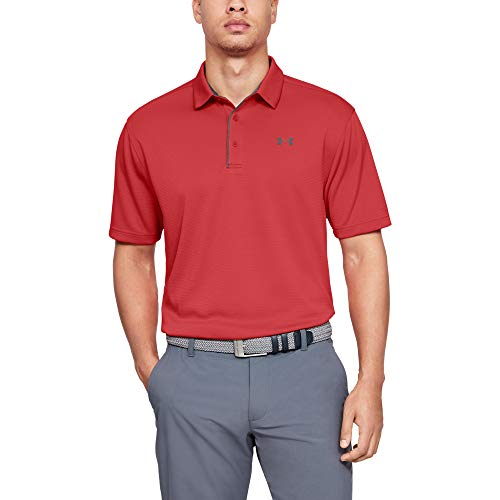 Under Armour Herren Tech Polo Funktionsshirt, atmungsaktives Poloshirt, komfortables und kurzärmliges Sportshirt mit loser Passform -
