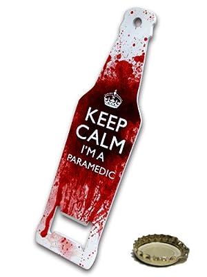 Keep Calm I'm A Paramedic - Metal Bottle opener by uglymug