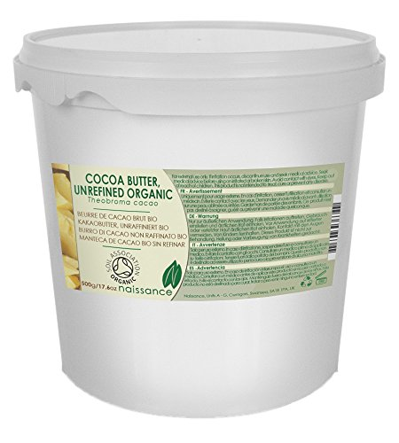 Manteca de Cacao BIO Sin Refinar - Ingrediente Natural 100% Puro- 500g