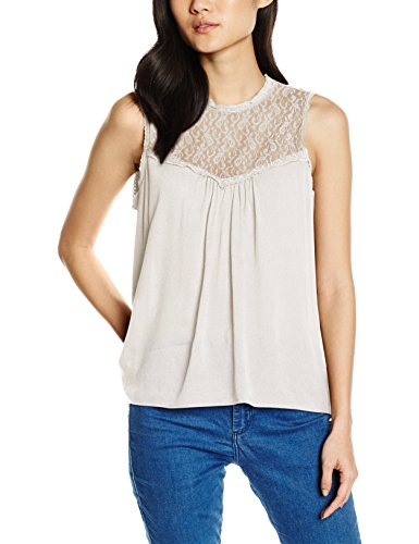 Vero Moda Vmcharlot SL Top, Débardeur Femme Blanc (Moonbeam/)