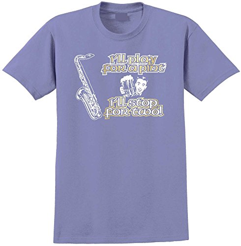 Saxophone Sax Tenor Play For A Pint - Violett T Shirt Größe 86cm 34in Lge 12-13 Jahr MusicaliTee (Saxophon Yamaha Für Kinder)