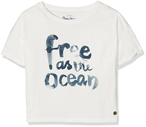 Pepe Jeans Yoko Teen, T-shirt Bambina, Beige (Off White), 12 anni (Taglia Produttore: Small)