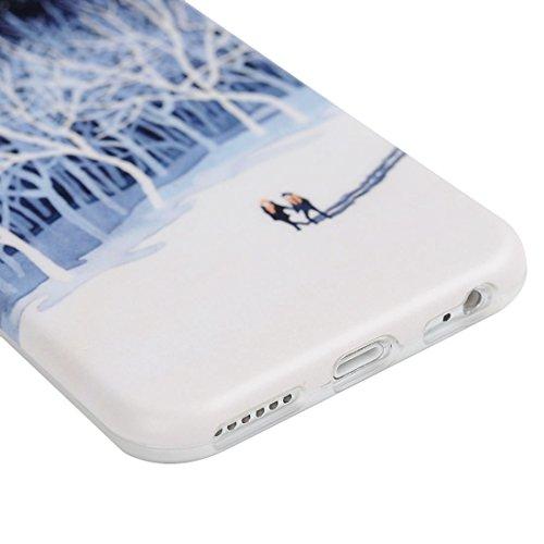 Mavis's Diary Coque iPhone 6 Plus/iPhone 6S Plus TPU Souple Dessin Housse de Protection Étui Téléphone Portable Phone Case+Stylet+Bouchon Anti-poussière Coloré motif 6