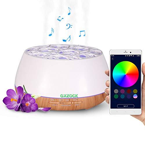 GXZOCK 400ml Oli Essenziali Aromaterapia Bluetooth Ad Ultrasuoni Diffusore Di Umidificatore Ad Ultrasuoni, Per Ufficio Casa Bambino Camera Da Letto Yoga Spa